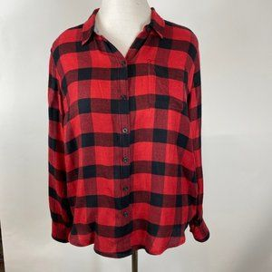 Unique Lucky Brand Flannel in Red & Black